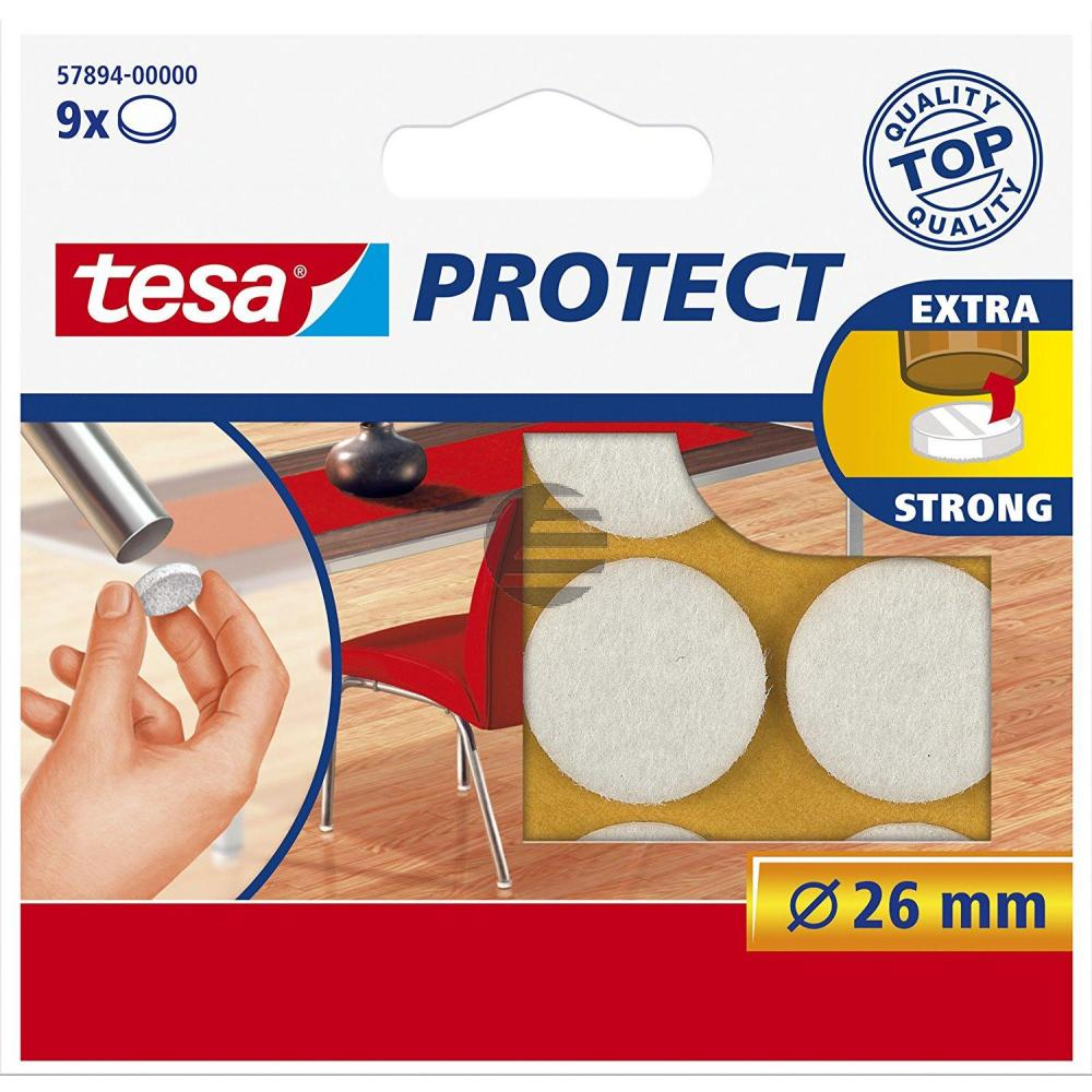 Tesa Protect Filzgleiter ø 26 mm weiß Inh.9