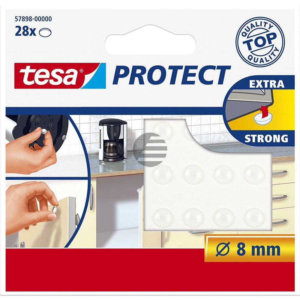 Tesa Protect Lärmstopper ø 8 mm transparent Inh.28