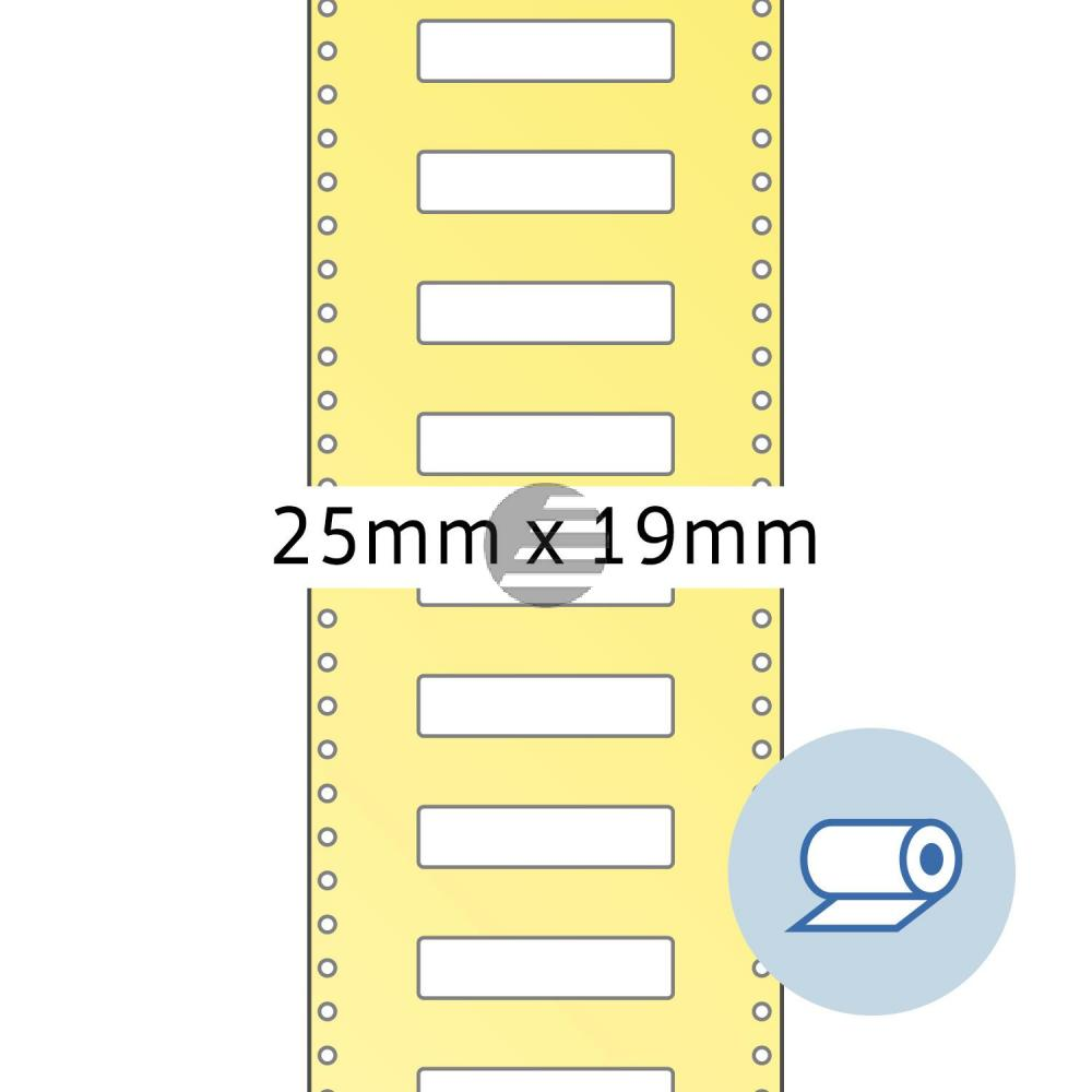 Herma Rollenetiketten weiß 25 x 19 mm Papier matt Inh.2000