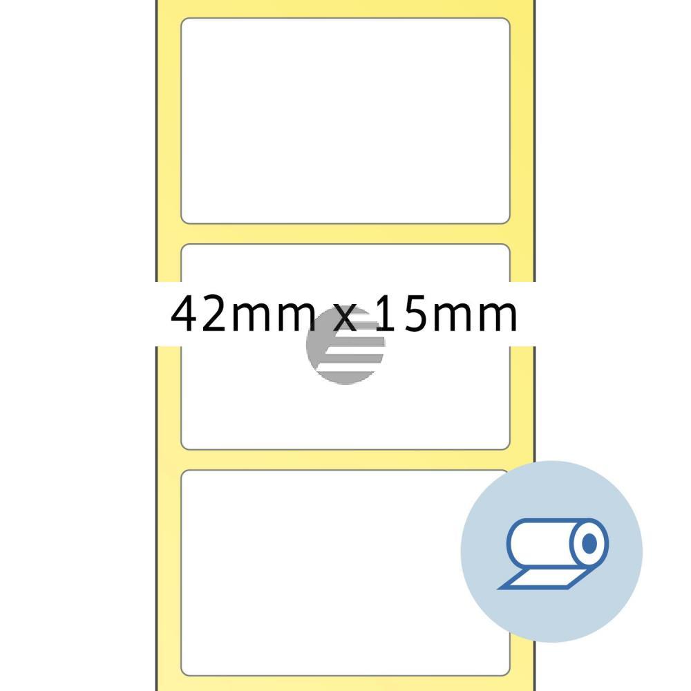 Herma Rollenetiketten weiß 42 x 15 mm Papier matt Inh.5000