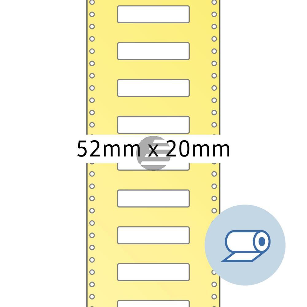Herma Rollenetiketten weiß 52 x 195 mm Papier matt Inh.2000