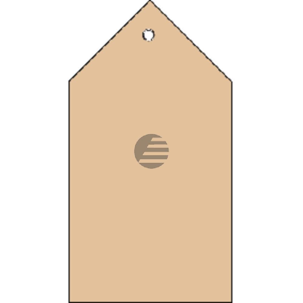 Herma Anhängezettel 80 x 150 mm mit Kunststofföse Inh.250 St Faltecken