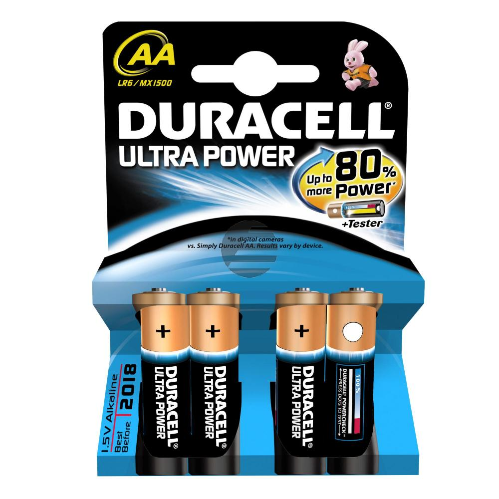 Duracell Batterie Ultra Power Mignon AA 4er-Pack 1,5 V Alkaline