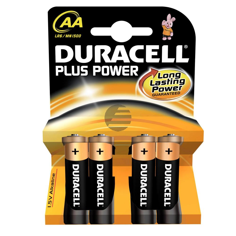 Duracell Batterie Plus Power Mignon AA 4er-Pack