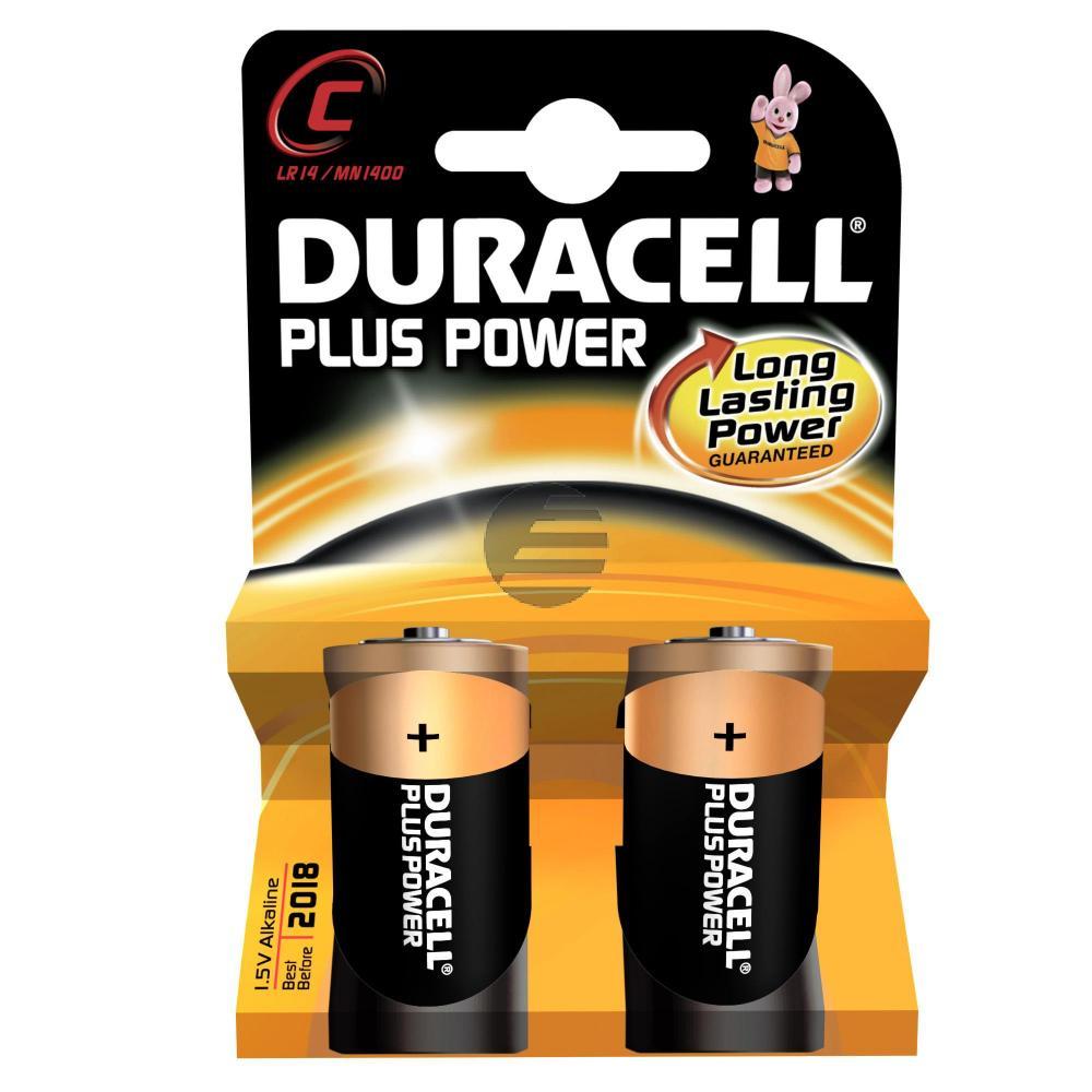 Duracell Batterie Plus Power Baby C 2er-Pack
