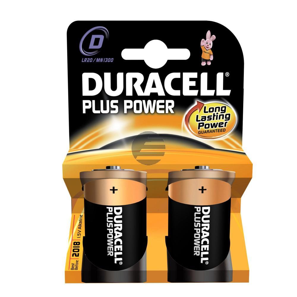 Duracell Batterie Plus Power Mono D 2er-Pack
