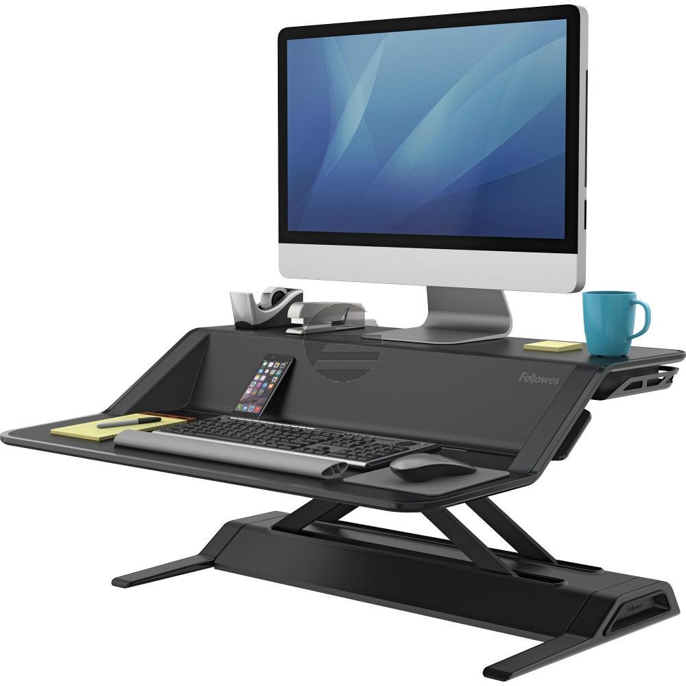 Fellowes Schreibtisch Sitz-Steh Workstation schwarz (0007901)