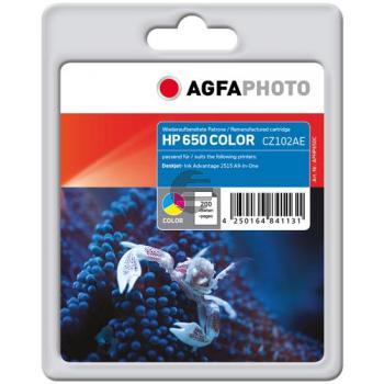 Agfaphoto Tintenpatrone cyan/gelb/magenta (APHP650C)