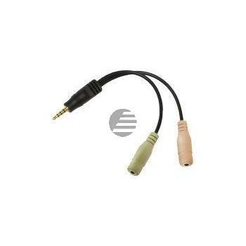 LogiLink Audio Klinken Adapter, 4polig im Polybag