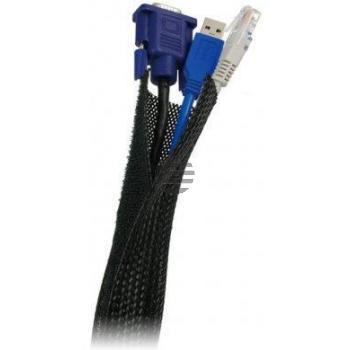 LogiLink Kabelbündel-Gewebeschlauch, schwarz