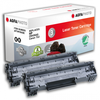 Agfaphoto Toner-Kartusche 2x schwarz (APTHP35ADE)