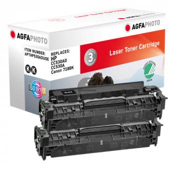Agfaphoto Toner-Kartusche 2x schwarz (APTHP530ADUOE)