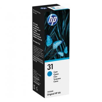 HP Tintennachfüllfläschchen cyan (1VU26AE, 31)