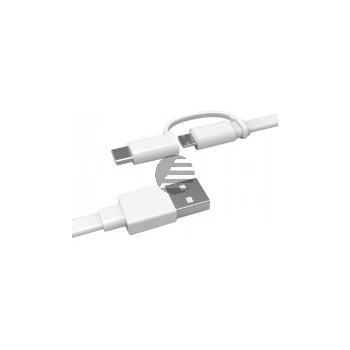 HUAWEI AP55S 2-in-1 USB-Kabel Micro USB inkl USB Typ-C Adapter 1,5 m weiß