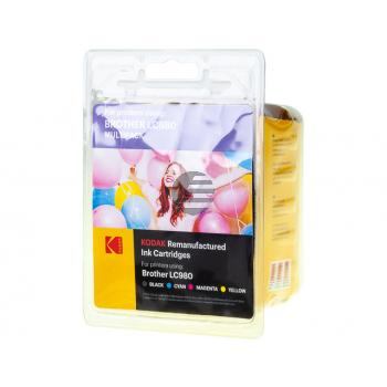 Kodak Tintenpatrone gelb cyan magenta schwarz (185B098121) ersetzt LC-980VALBPDR