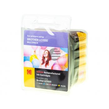 Kodak Tintenpatrone gelb cyan magenta schwarz (185B110021) ersetzt LC-1100VALBP