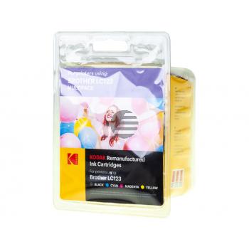 Kodak Tintenpatrone gelb cyan magenta schwarz (185B012321) ersetzt LC-123VALBP