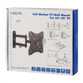 LogiLink TV-Wandhalterung, Festmontage, 23 - 42'', max. 25 kg Belastung