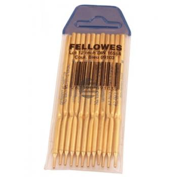 Fellowes Kugelschreibermine für Standkugelschreiber, 12er-Pack, blau (0910301)