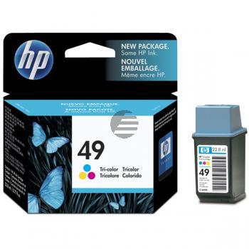 HP Tintendruckkopf cyan/gelb/magenta HC (51649AE, 49)