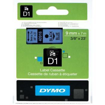Dymo Schriftbandkassette schwarz/blau (40916)
