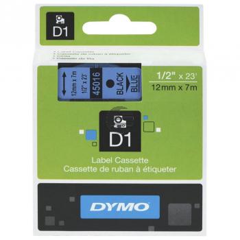Dymo Schriftbandkassette schwarz/blau (45016)