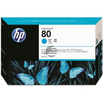 HP Tintendruckkopf Tintendruckkopf Reiniger cyan (C4821A, 80)