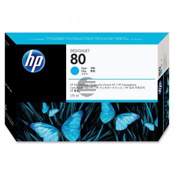 HP Tintenpatrone cyan (C4872A, 80)