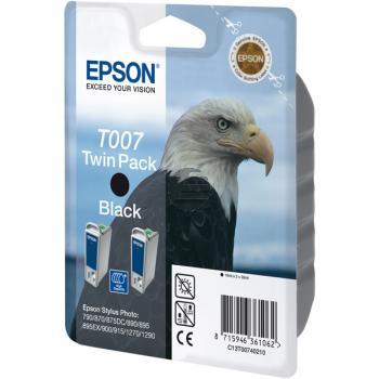 Epson Tinte 2 x schwarz 2-Pack (C13T00740210, T007)