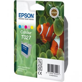Epson Tintenpatrone cyan/gelb/magenta/light cyan/light magenta (C13T02740110, T027)