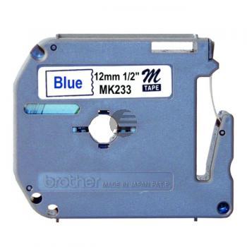 Brother Schriftbandkassette blau/weiß (M-K233)