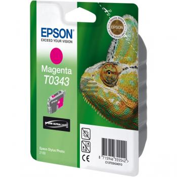 Epson Tintenpatrone magenta (C13T03434010, T0343)