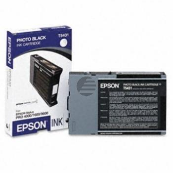 Epson Tintenpatrone Ultra Chrome Photo-Tinte photo schwarz (C13T543100, T5431)