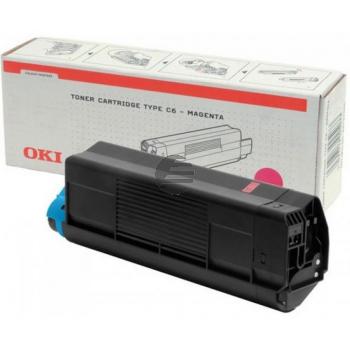 OKI Toner-Kit Magenta HC (42127406, TYPE-C6)