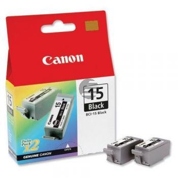 Canon Tintenpatrone schwarz 2-Pack (8190A002, BCI-15BK)