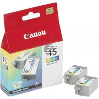 Canon Tintenpatrone 3-farbig 2-Pack (8191A002, BCI-15C)