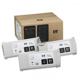 HP Tintenpatrone 3x schwarz (C5066A, 81)