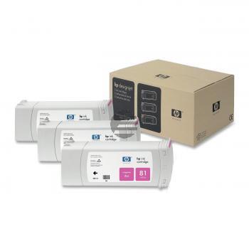 HP Tintenpatrone 3x magenta (C5068A, 81)