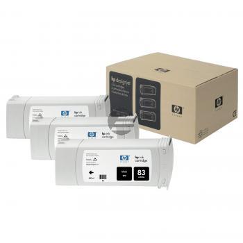HP Tintenpatrone UV-Tintensystem 3 x schwarz (C5072A, 83)
