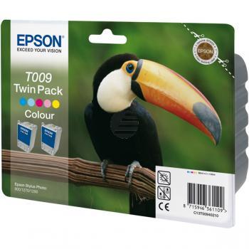 Epson Tinte 2 x Cyan/gelb/Magenta/light Cyan/light Magenta 2-Pack (C13T00940210, T009)