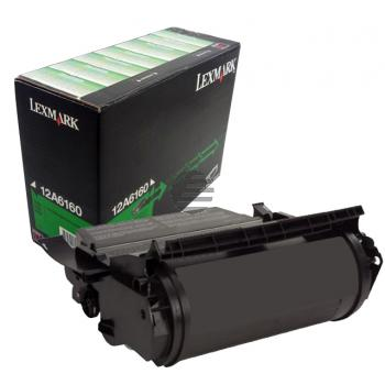 Lexmark Toner-Kartusche refurbished schwarz (12A6160)