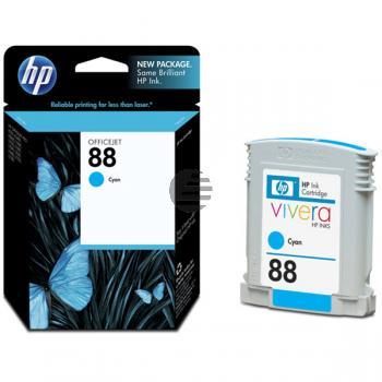 HP Tintenpatrone cyan (C9386AE, 88)