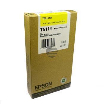 Epson Tintenpatrone gelb (C13T611400, T6114)