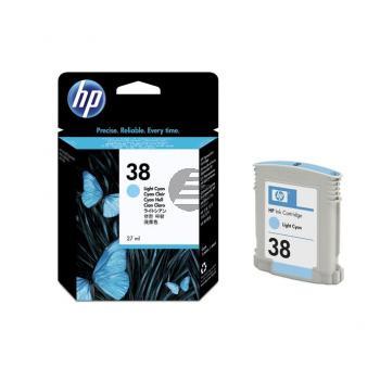 HP Tintenpatrone cyan light (C9418A, 38)