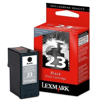 Lexmark Tintenpatrone Prebate schwarz (18C1523, 23)