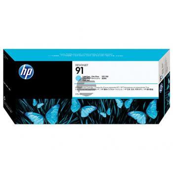 HP Tintenpatrone cyan light (C9470A, 91)