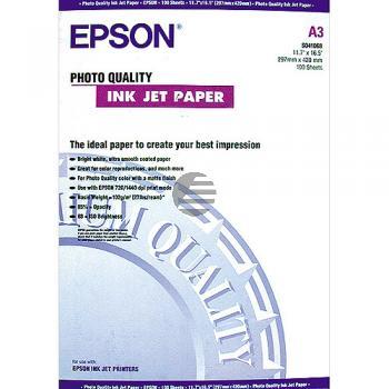 Epson Photo Quality Ink Jet Paper DIN A3 100 Seiten weiß (C13S041068)