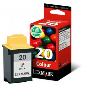 Lexmark Tintenpatrone cyan/gelb/magenta HC (15MX120, 20)