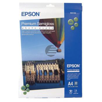 Epson Premium Semigloss Photo Paper DIN A4 weiß DIN A4 (C13S041332)