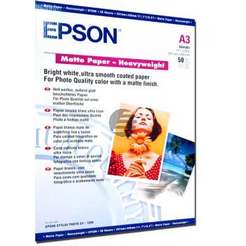 Epson Matte Paper Heavy Weight DIN A3 weiß 50 Seiten (C13S041261)